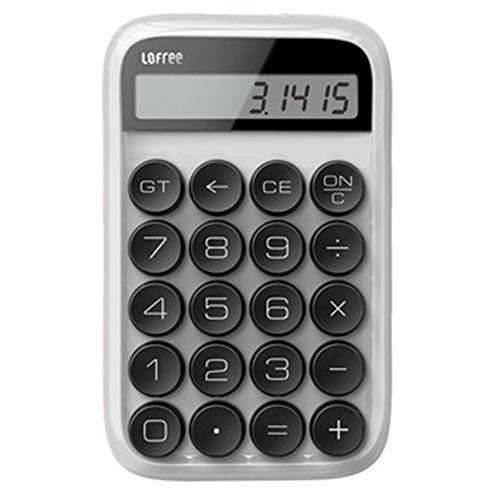 ZRK Rechner-Punkt Mechanischer Knopf-einfacher Büro-Prüfungsstudent mit tragbarem Taschenrechner-bequemer Griff-Elegant und schön-geeignet für Büro-Familien,White