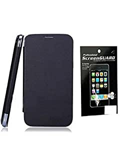 Aeroflots Flip Cover for Gionee M2 - Black + Screen Guard