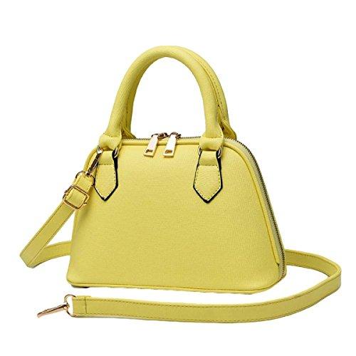 Donne Europa E Gli Stati Uniti Pu Shoulder Messenger Bag Shell Package Yellow