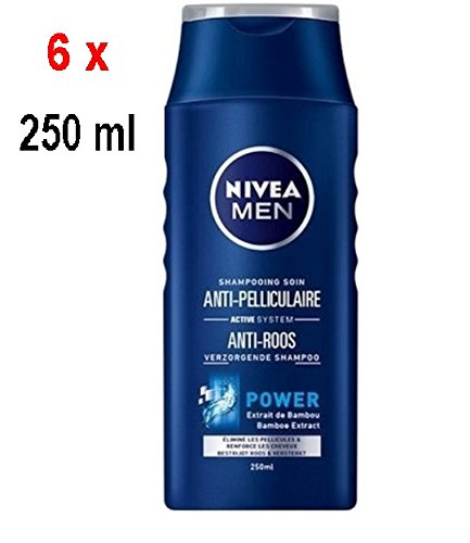 "6 x NIVEA Men Power Shampoo ""Anti-Schuppen"" - für normales Haar - 250 ml"