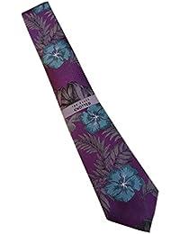b65d972209eef6 TED BAKER London Men s 100% Woven Silk Neck Tie - Purple   Green Floral  Print