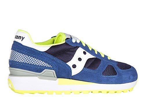Sneaker Saucony Shadow in suede blu royal Blu