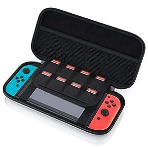 CSL – Tragetasche für Nintendo Switch – Transporttasche inkl. Netztasche und Reißverschluss – Tasche Schutzcase Schutztasche Hard Case – Schutz vor Kratzern Stößen und Schmutz