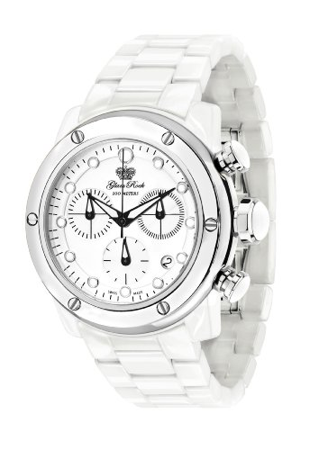 Glam Rock Women's GR50100 Aqua Rock Chronograph White Dial Ceramic Watch