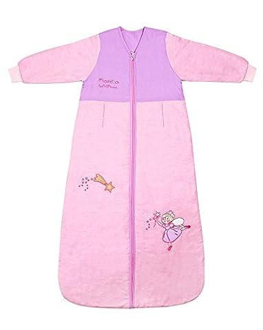 Schlummersack Baby Ganzjahres Schlafsack Langarm 2.5 Tog 110cm/12-36 Monate - Pink Fairy (Hello Kitty Hochstuhl)