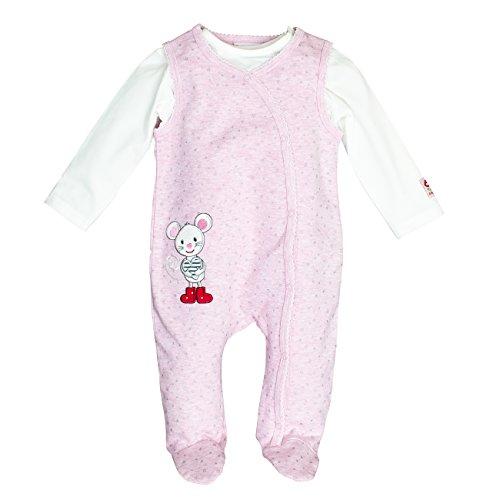 SALT AND PEPPER Baby-Mädchen Strampler BG Playsuit Allover Maus OCS, Pink (Sweet Rose Melange 805), 68
