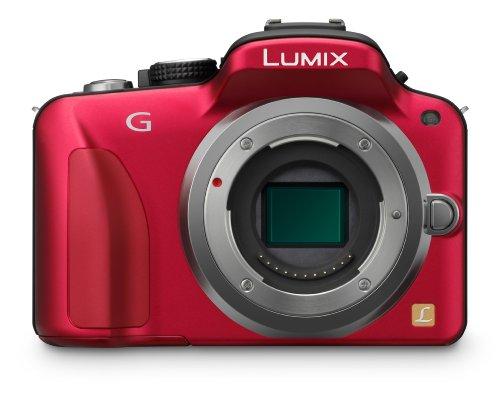 panasonic fotocamere digitali (modello: dmc-g3; generale:rosso, obiettivo intercambiabile, obiettivo in kit)