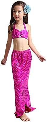 Deylay Ninas traje de sirena de cola de sirena Cosplay sirena de traje de bano traje de bikini