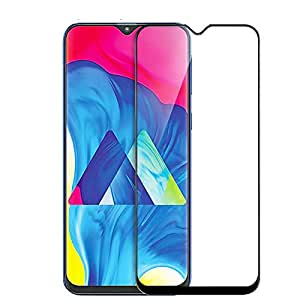 CEDO Full Glue Coverage Edge to Edge Tempered Glass Screen Protector for Samsung Galaxy M10 (Black)