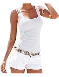 LILICAT® Tallas grandes Tank Tops Mujer, ❤ ❤️S ~ 3XL, 2018 Moda sin mangas con lentejuelas chaleco Camisetas Verano, Sexy Camisetas sin…