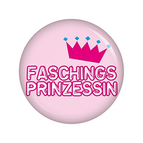 Kiwikatze® Fest - Faschingsprinzessin 37mm Button Ansteckbutton für Fasching Karneval Halloween Party und (1700 Halloween Kostüme)