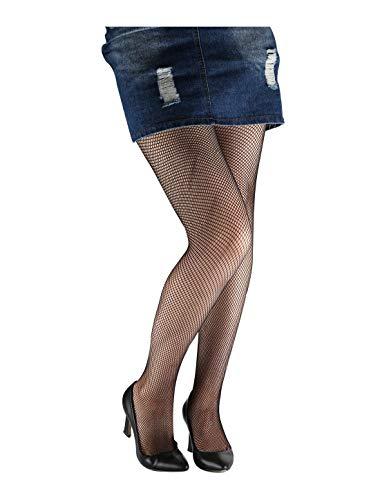 Lannister Netzstrumpfhose Damen Bequeme Strumpfhose Pantyhose Stretch High Vintage Waist Freizei Festlich Bekleidung Fashion Sommer (Color : Black-4, Size : One Size)