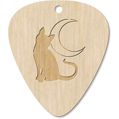Azeeda 7 x 'Gato y Luna' Guitarra Púa (GP00018462)