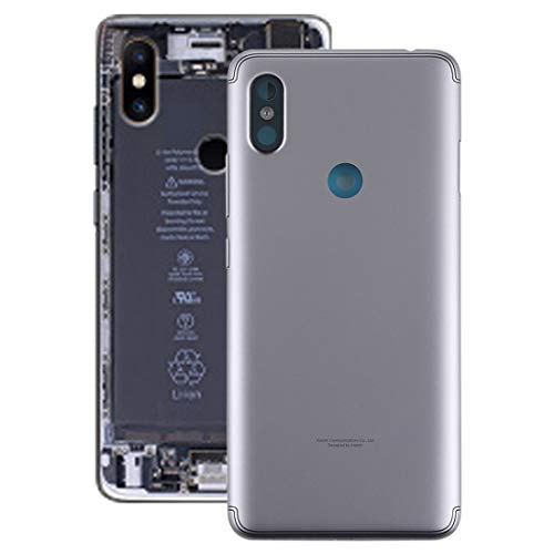 Reemplazo dañado Vieja Cubierta Trasera para el Caso de la contraportada del teléfono Inteligente Redmi S2 con Teclas Laterales for Xiaomi Redmi S2, Color Gris/Dorado (Color : Grey)