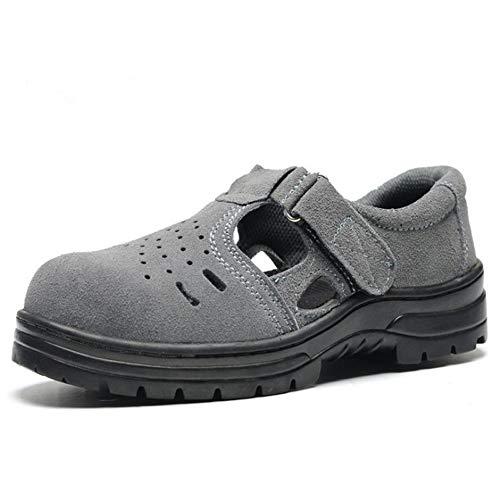Sicherheits Sandalen mit Stahlkappe Arbeitsschuhe für Herren und Damen Atmungsaktiv Komfortabel Industrie & Bau Hiking Schuhe,Gray,44EU ()