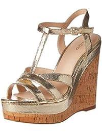 4618093b342 Aldo Femmes Sandales Compensées Couleur Metallic Gold Taille 39 EU ...