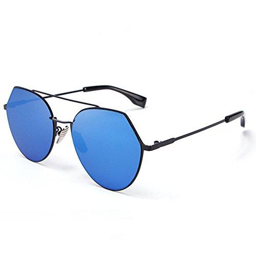 Preisvergleich Produktbild YanFa Sunglasses Weiblich,  Sonnenbrille,  persönlichkeit,  Mode,  Freizeit,  unregelmäßig,  Polygon,  blau,  S0072