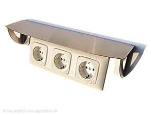 edelstahl schutzdach f r 3 steckdosen lichtschalter. Black Bedroom Furniture Sets. Home Design Ideas
