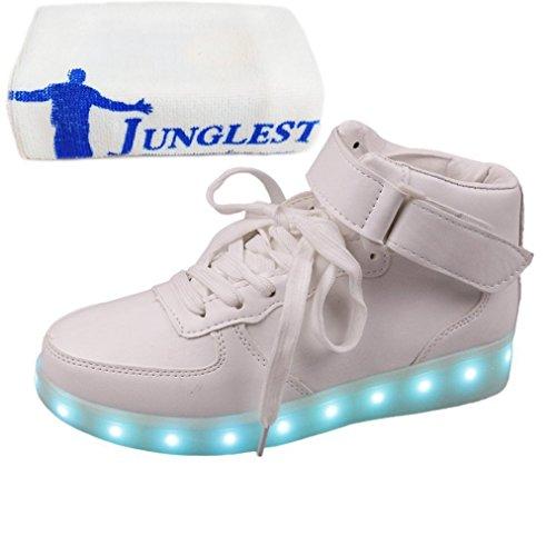 [Présents:petite serviette]JUNGLEST® - Baskets Lumine blanc style velcro
