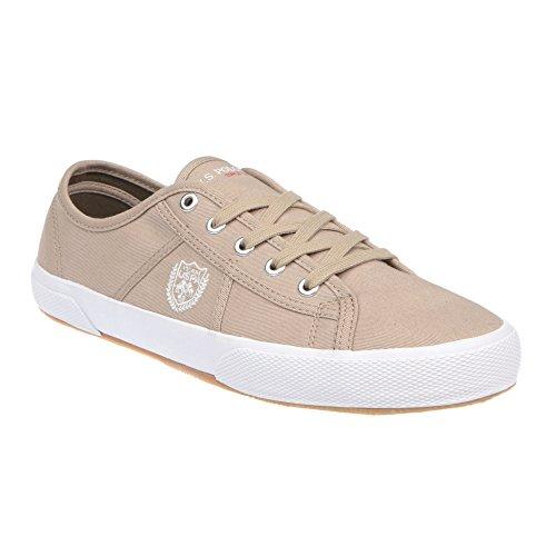 U.S. Polo Scarpe Basse Uomo, Chiusura con Lacci, Stile Sneaker - MOD. SOLAN4189S7-C1 Beige
