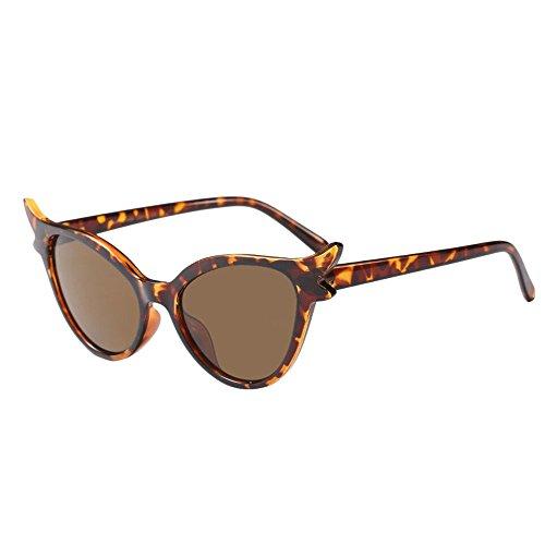LABIUO Eye-Cat-Brillen, Unisex-Mode-Retrostil entwickelt polarisierte Sonnenbrillen leichte UV-Schutzbrillen(F,freie Größe)