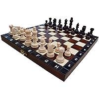 Jeu d'échecs en bois avec mallette SCHOOL 27 cm