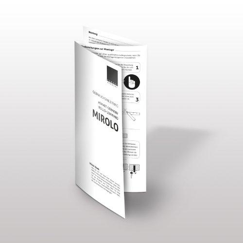 eSmart Germany MIROLO | Rolloleinwand | 187 x 140 cm (92″) 4:3 | Vollmaskierung | Heimkino Beamer Projektionsleinwand Rollo Leinwand LCD LED | Modell 2017 - 6