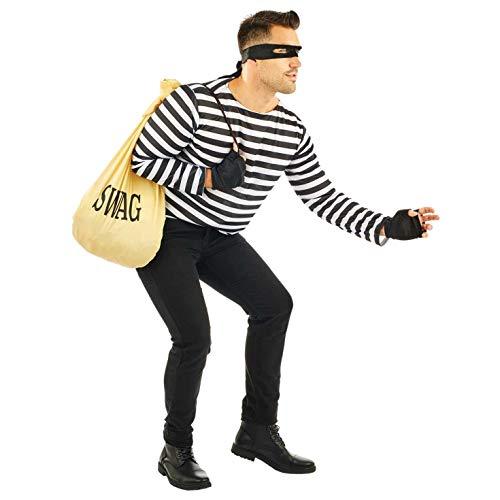 Fun Shack Herren Costume Kostüm, Robber, - Cops And Robbers Kostüm