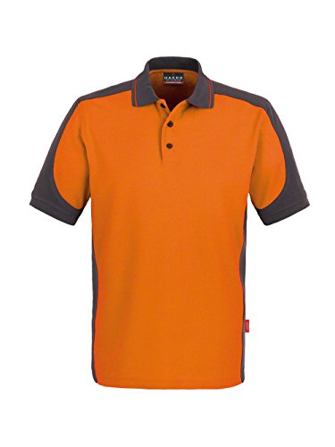 Hakro CONTRAST-POLOSHIRT PERFORMANCE # 839 UNISEX Orange/Anthrazit