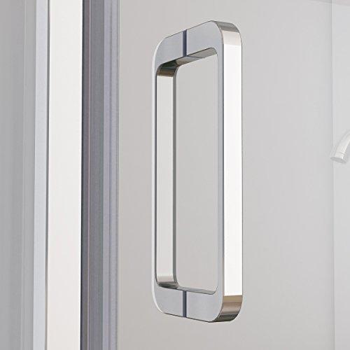 Duschkabine mit 180 Grad Schwingtür, 90 x 75 (Seitenwand) x 195cm im Vergleich - 7