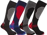 i-Smalls Boy`s 4 Pairs High Performance Ski Socks Long Hose Thermal Socks