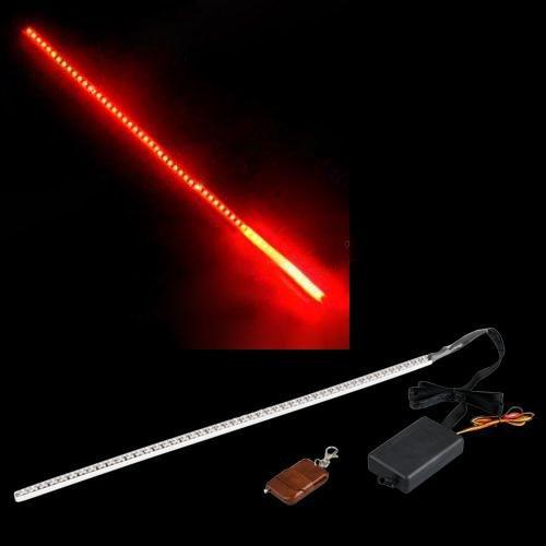 Sonline STROBO STRISCIA 48 LED LUCI ROSSO KNIGHT RIDER X AUTO