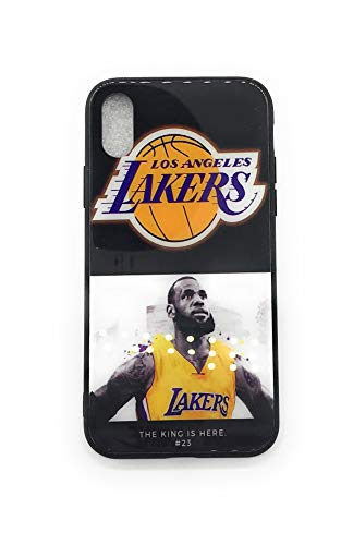 WeTheFounders Exklusive Basketball LBJ MVP # 23Telefon Fall für iPhone 7/8Plus und iPhone X Sport, Schwarz, Small (Basketball Iphone Fall)
