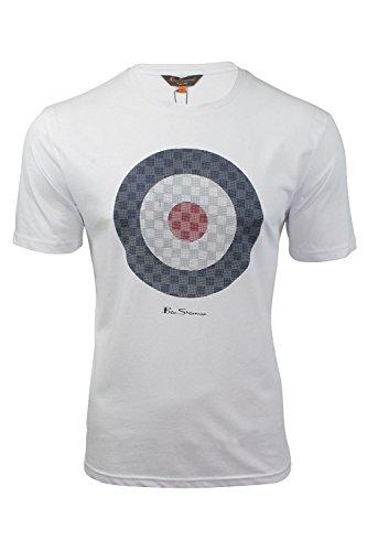 Herren T-Shirt von Ben Sherman Zeilscheibe, kurzärmlig Weiß