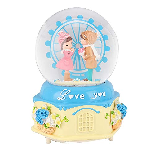 AUNMAS Musikalische Schneekugel Riesenrad Spieluhr Nachtlicht Neuheit LED Spieluhr für Desktop Ornament Geburtstagsgeschenk(2#) -