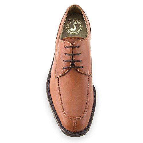 Masaltos Scarpe con Rialzo da Uomo Che Aumentano l'Altezza Fino a 7 cm. Fabbricate in Pelle. Modello Westport Marrone