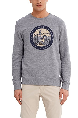 edc by ESPRIT Herren Sweatshirt Grau (Medium Grey 035)