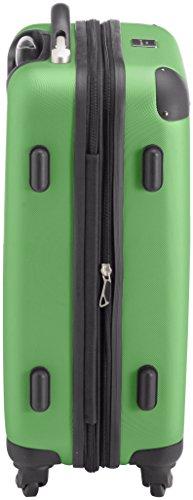 HAUPTSTADTKOFFER - Spree - 2er Koffer-Set Handgepäck Hartschale matt, TSA, 55 cm, 49 Liter, Gelb-Schwarz Apfelgrün/Lila
