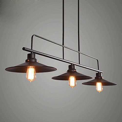 OLQMY-Lampada a sospensione in ferro battuto d'epoca 3 96 * 120cm , black