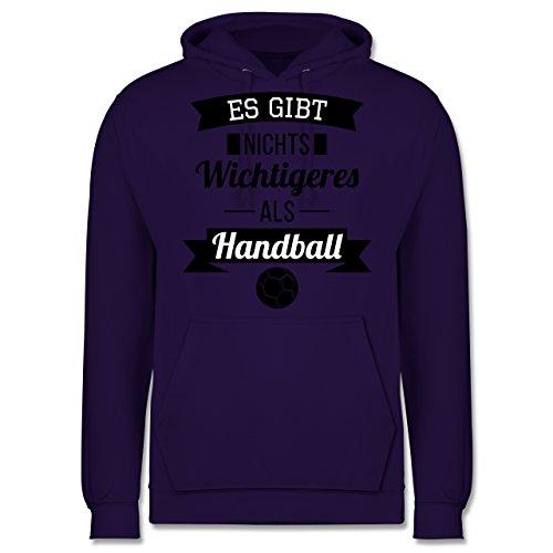 Handball - Es gibt nichts Wichtigeres als Handball - Männer Premium Kapuzenpullover / Hoodie Lila
