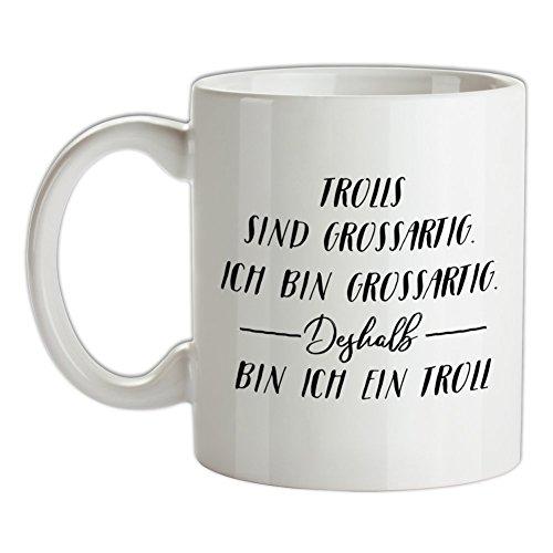 Ich Bin Grossartig - Trolls - Bedruckte Kaffee- und (Im Mann Bin Kostüm)