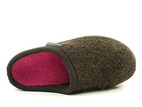Haflinger 611086-0-62 Walktoffel Uni Chaussons Mixte Adulte Braun