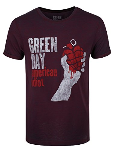 green-day-t-shirt-american-idiot-vintage-da-uomo-in-bordeaux