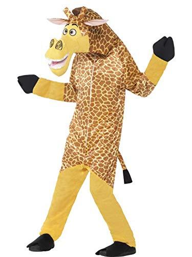 Kostüm Löwe Madagaskar - Luxuspiraten - Kinder Jungen Mädchen Kostüm Plüsch Madagaskar Melman, Madagascar Giraffe Fell Einteiler Onesie Overall Jumpsuit, perfekt für Karneval, Fasching und Fastnacht, 104-116, Braun