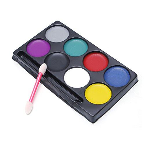 (SimpleLife 8 Farben Körper Gesicht Farbe Kit Kunst Make-up Malerei Pigment Abendkleid Party 13 x 7,5 cm / 5,12