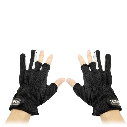 Sourcingmap - Velcro regolabile gancio di chiusura il medio pieno guanti di sport di coppia