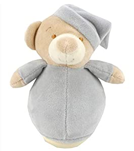 Duffi Baby- Peluche Balanceo Osito, 100% Poliéster, Color Plata (Master Baby Home, S.L. 0757-11)