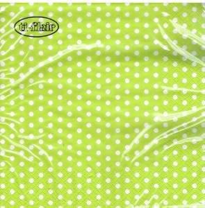 ti-flair - Servietten - Bolas lime - Punkte / gepunktet / weiß hellgrün Cocktail 24x24cm (Papier-servietten Hellgrün)