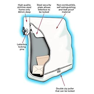 Fire Proof / Retardant Letterbox Bag. Internal Letter Box Security Safety Cover. Extra Security Prevents Arson Attacks