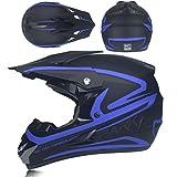 Qianliuk Motorrad Helm Capacete Motocross Riding Schutz Off Road Motocross Helm FüR MäNner und Frauen